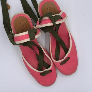 J. Crew Carolyn Hot Pink Wedges